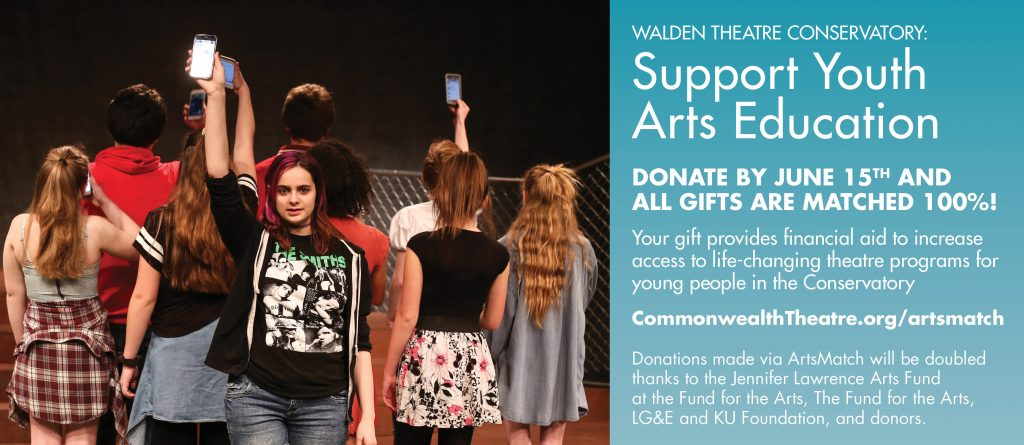 Image: Young people holding phones aloft alongside info on how to donate. More on that below!